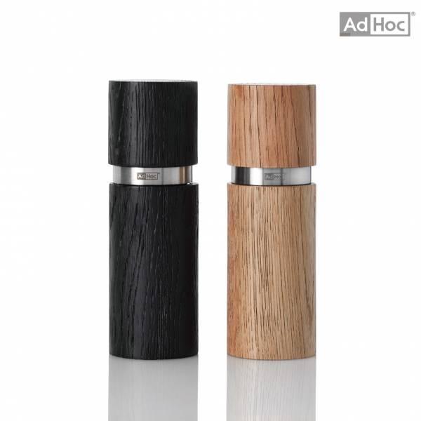 AdHoc-實木胡椒與鹽粒研磨罐組
