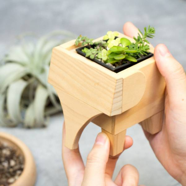 Planting Pots (1 pair) wooden, woodwork, planting pots.