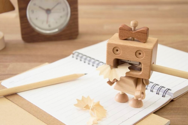 Roboni pencil Sharpener wood, woodwork, stationery, pencil sharpener