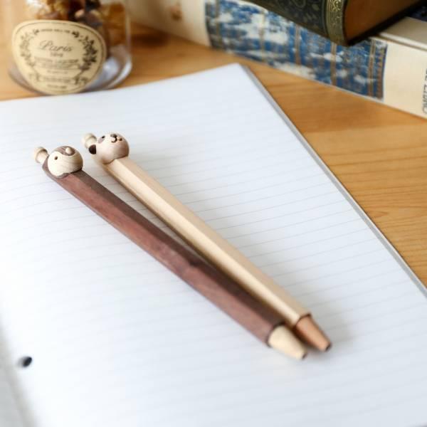 Craft-動物夥伴木製筆(棕熊貓/棕獅子)
