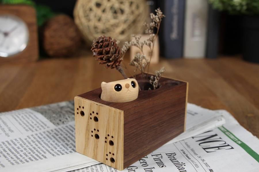 工房KAWASEMI -蝦夷小鼯鼠筆筒
