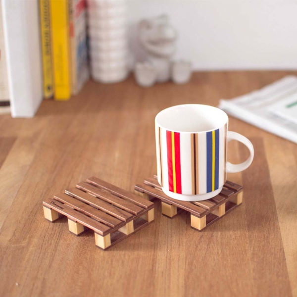 棧板杯墊(無盒裝) 棧板,木頭,杯墊