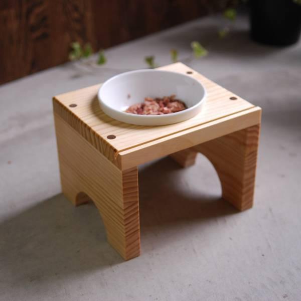 寵物飼料架 原木.飼料架,貓咪.寵物.陶瓷碗.