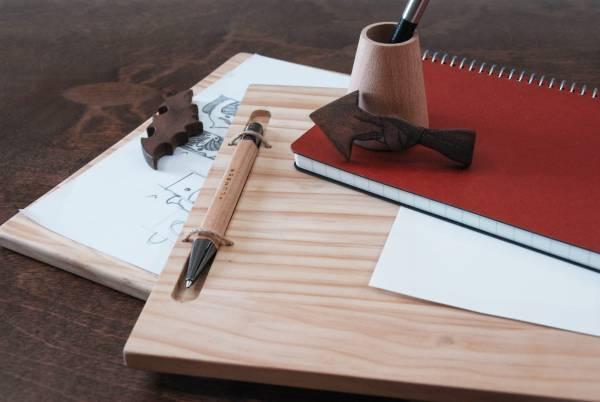 Wooden Clipboard (For Houli Workshop) 原木板夾.文具用品.辦公室必備