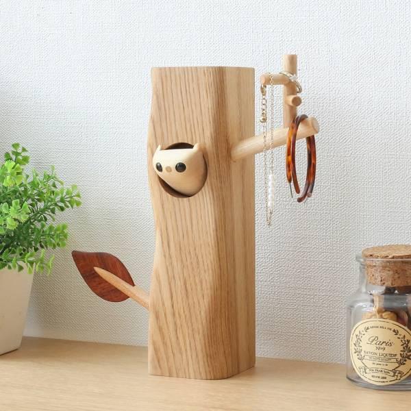 工房 KAWASEMI-小鼠樹枝飾品架