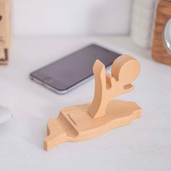 Taiwan Phone Holder wood, woodart, woodart, carpentry