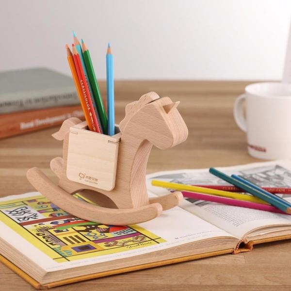 Pegasus Pen Pot wood, woodwork, DIY, pen pot.