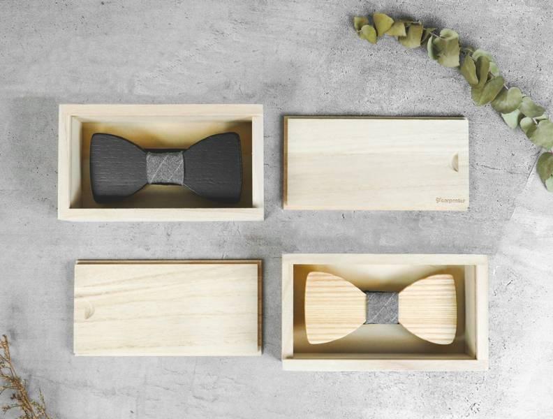 木質領結-禮盒組 原木、領結、配件、裝飾