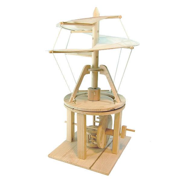達文西發明手稿-螺旋直升機