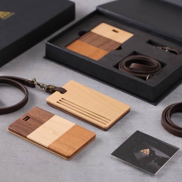 票卡夾Walnut 票卡夾,實木,信用卡夾,悠遊卡,感應便利