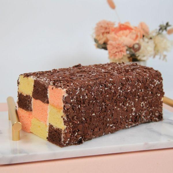 三色格子蛋糕