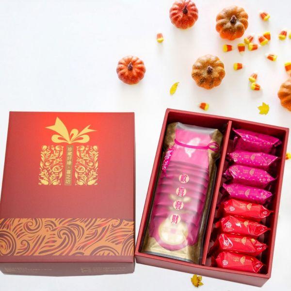 牛軋糖錦囊袋(15入)+爺奶酥4入+鳳梨酥4入