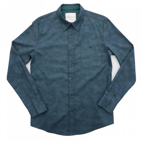 數位線條迷彩印花襯衫 襯衫,machismo,日本進口,婚禮,生日禮物
