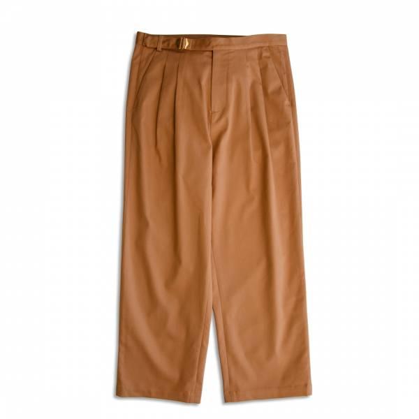 黃銅目字環腰帶直筒褲 日本,waldes,黃銅,目形環,駝色,直筒褲