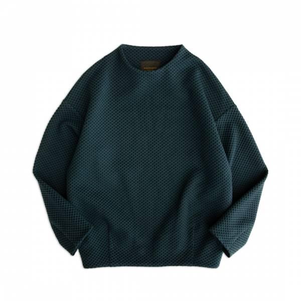 鬆餅針織上衣 黑色,駝色,灰色,孔雀綠,鬆餅針織,衛衣,大學T