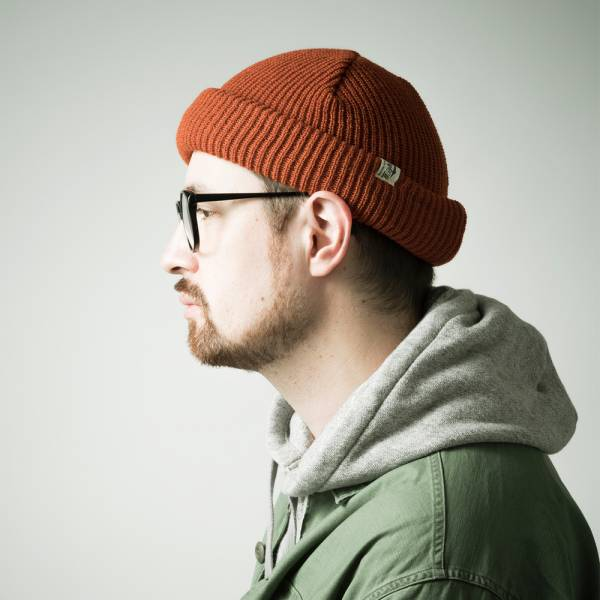 ROLL WATCH  gimixed,rollwatch,針織毛帽,捲帽,橘色,深藍色,日本製