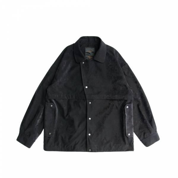 教練外套 日本製,桃皮絨壓光面料,防潑水,透氣透濕,抗靜電,抗污,教練外套,夾克,黑色