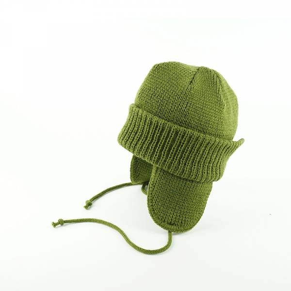 SHIRA 軍綠色,駝色,黑色,日本製造,壓克力,羊毛,針織,蓋耳帽,遮耳帽,毛帽