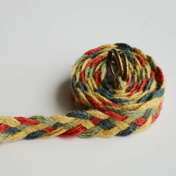日本麻草編織長腰帶 日本麻,編織,撞色,長腰帶