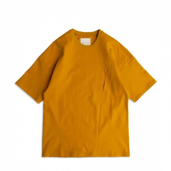 米蘭棉口袋T恤/Milano Cotton Pocket Tee 厚磅,硬磅,米蘭棉,米蘭織,硬挺,親膚,彈性,白色,芥黃色