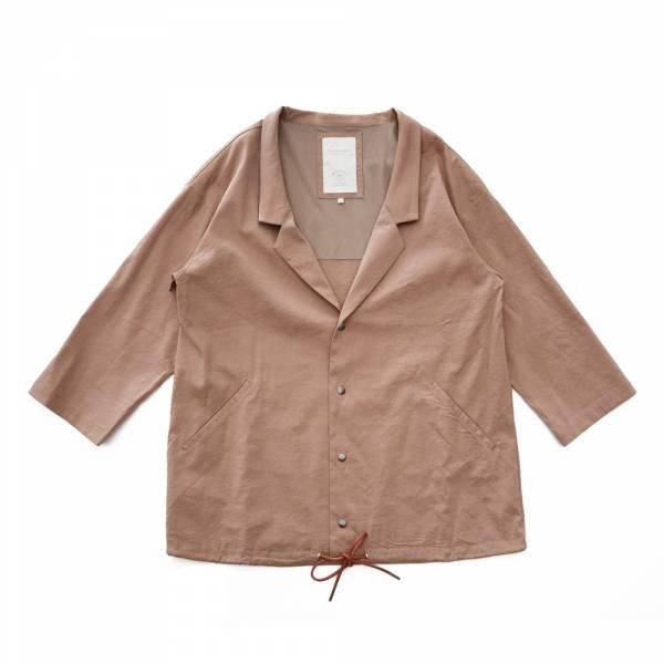 西裝領開襟透氣外套 灰白色,可可色,西裝領,透氣,呼吸,九分袖,薄外套