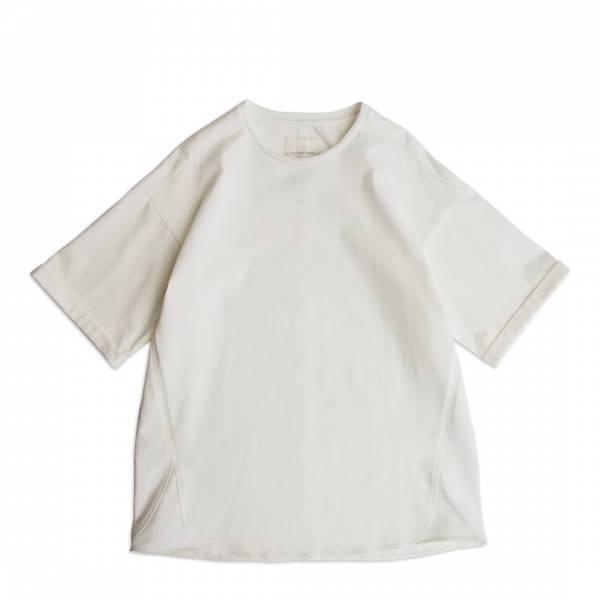 米蘭棉捲袖T恤/Milano Cotton Rolled Sleeve Tee 厚磅,硬磅,米蘭棉,米蘭織,硬挺,親膚,彈性,白色,黑色