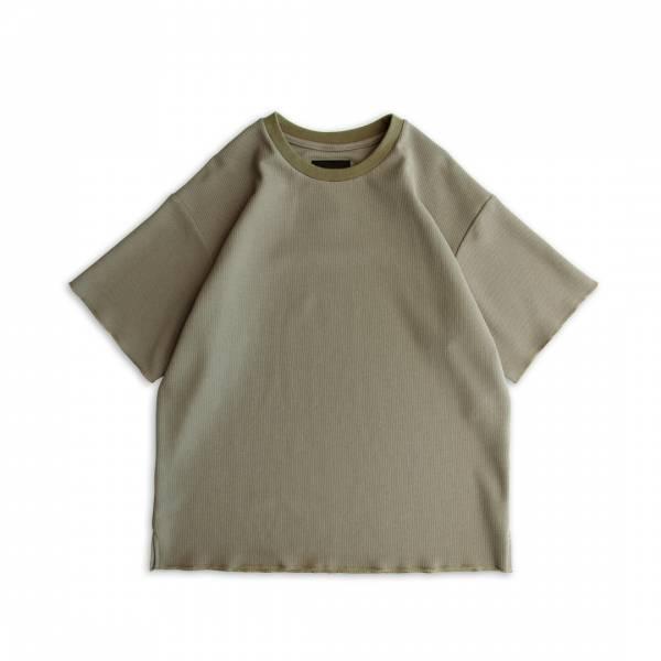 蜂巢針織T恤 蜂巢針織,短袖,T恤,灰色,沙漠色,卡其色,透氣