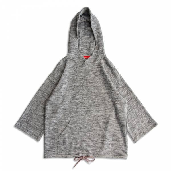 魚鱗麻花連帽上衣 日本面料,灰色,麻花,魚鱗布,和風,連帽上衣