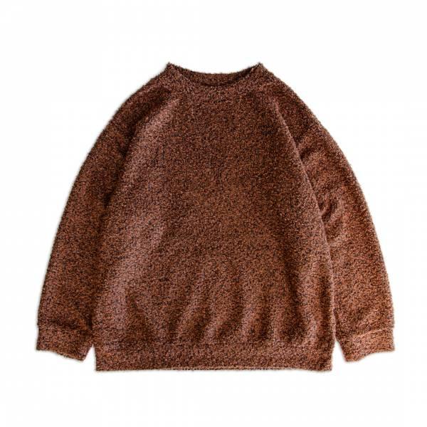 圈圈紗羊毛針織衫 圈圈紗,羊毛,混紡,針織衫,深藍色,橙色,橘色,日系