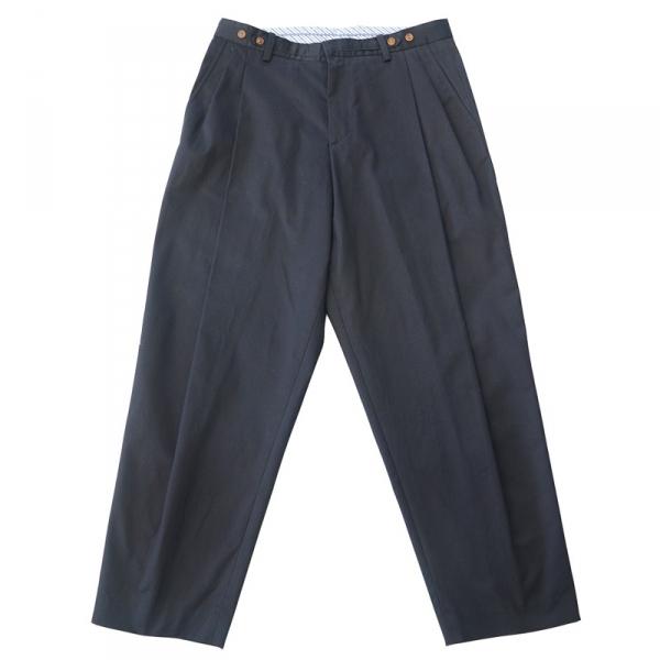 情侶共用-腰圍可調式打折九分寬褲 寬褲 鬆身 九分褲 男女共用