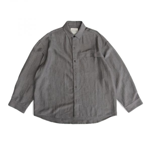 鬆身落肩寬袖襯衫 復古,鬆身,落肩,過手袖,垂墜感,襯衫