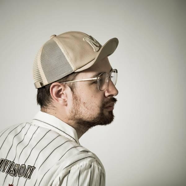 upper cap  mesh 日本製,灰色,深藍色,黑色,軍綠色,短帽沿,文字貼布繡,棒球帽,網帽