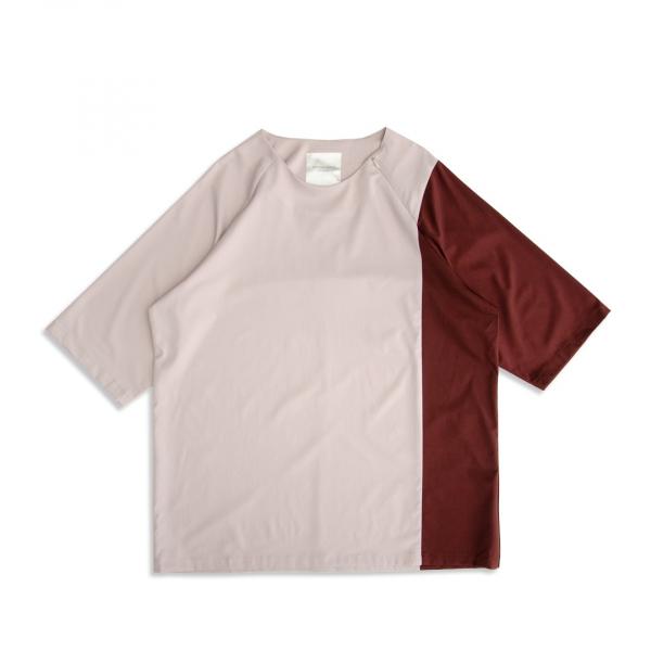 (吸汗速乾)色塊剪接短袖上衣 bemberg,吸汗,速乾,色塊,剪接,短袖,上衣,T恤