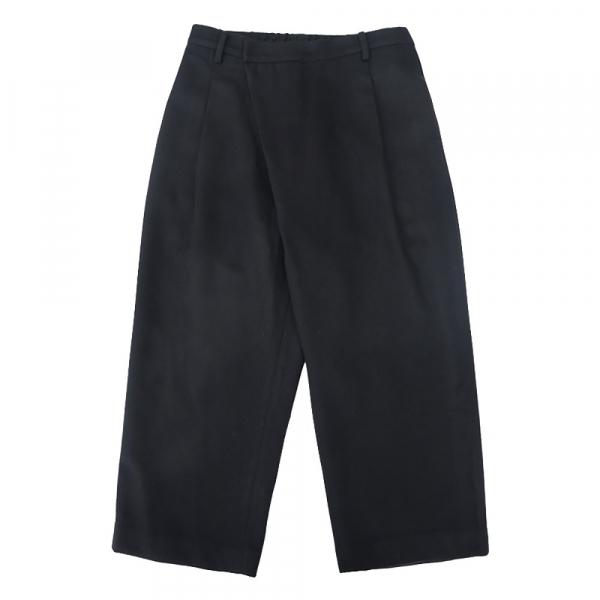 羊毛九分寬褲 日本製羊毛,黑色,easypants,腰摺,九分褲,寬褲