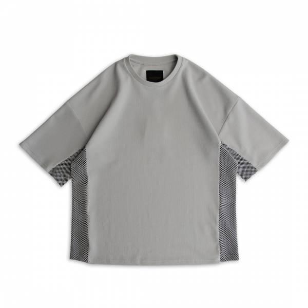 蜂巢針織 / 漁網織透氣T恤 ( 特注色 ) 蜂巢針織,漁網織,透氣,T恤,麻藍色,深灰藍,灰白色