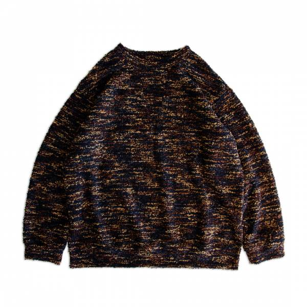 圈圈紗羊毛針織衫 圈圈紗,羊毛,混紡,針織衫,深藍色,橙色,橘色,日系,玳瑁