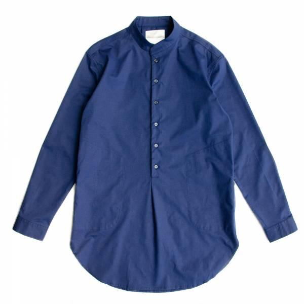 小立領PIMA棉長版襯衫 日本進口布料,PIMA棉,長版,長袖,小立領,半開襟,白色,藍色,
