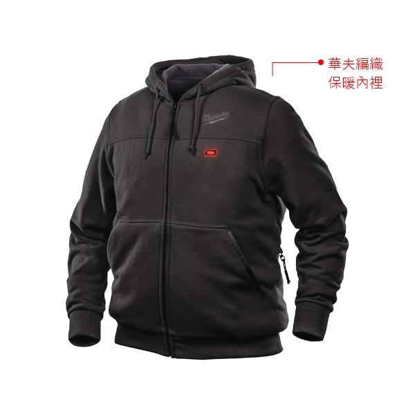 發熱連帽休閒外套-黑 美沃奇 M12 HHBL3 發熱連帽休閒外套  寒流保暖 最潮工具 赫杰國際