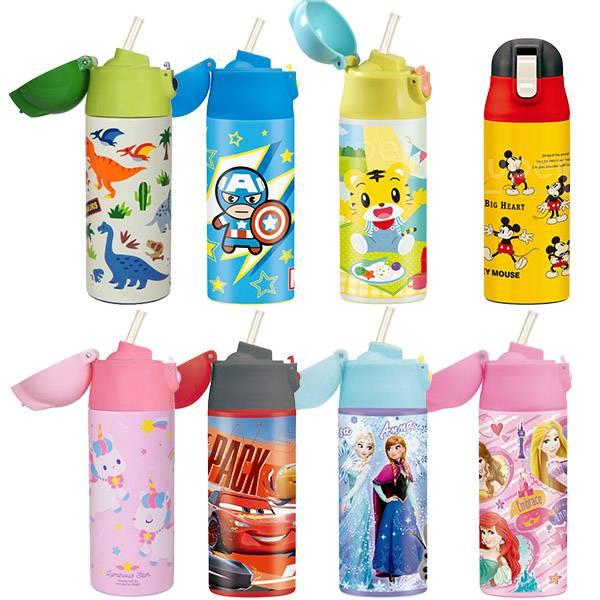 Skater 彈蓋式吸管不鏽鋼保溫瓶360mL 兒童水壺,Skater,迪士尼水壺,不鏽鋼保溫瓶,保溫壺,卡通水壺,漫威水壺