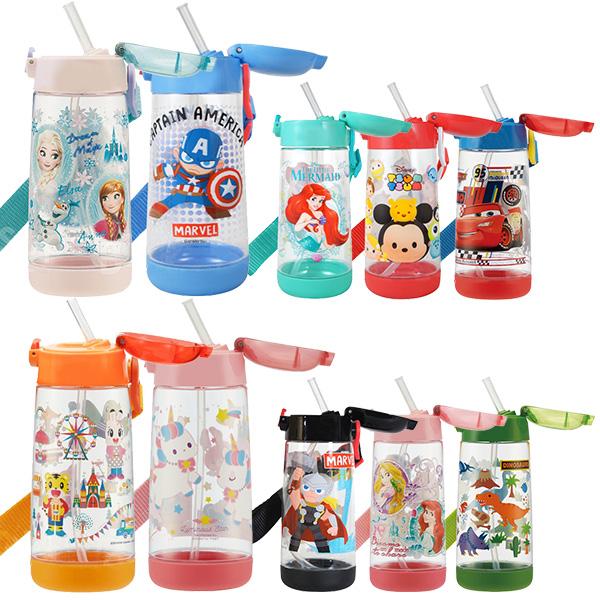 Skater 吸管式透明冷水壺480mL 兒童水壺,Skater,迪士尼水壺,不鏽鋼保溫瓶,保溫壺,卡通水壺,漫威水壺