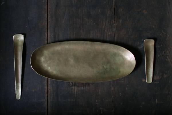 田中銅器_黃銅橢圓盤C12
