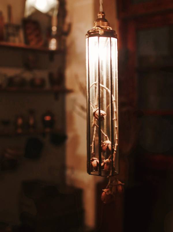 真真鑲嵌玻璃研究所 l 八面直筒吊燈