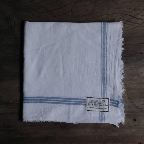 甘地織手帕 藍色系