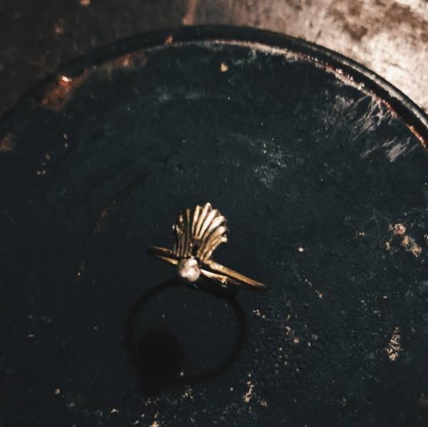 MUCAO | 空氣 Air系列 貝殼銀珠戒指