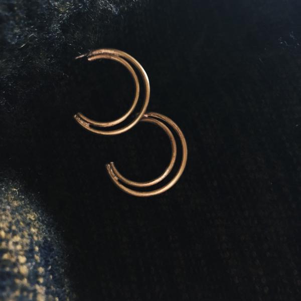 MUCAO |  空氣 air系列:雙圈黃銅鍍金耳環