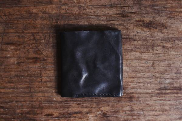 森林燦燦_植鞣皮革系列  短夾/黑