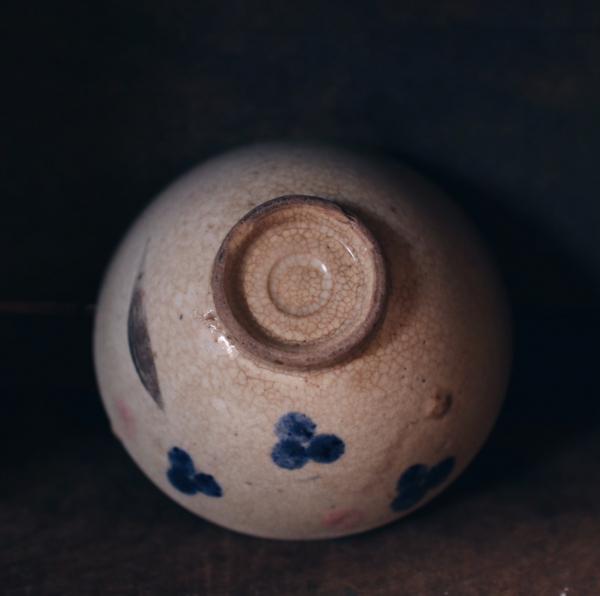 早期手繪花卉碗A
