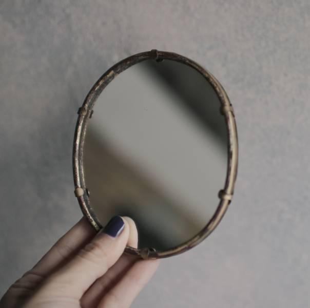 【時間選品】隙裏有光_黃銅手拿鏡C