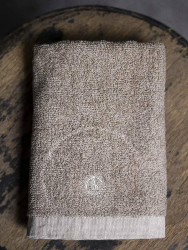 草木染毛巾 深色咖啡