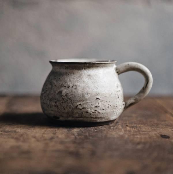 望氣 鏽 花苞咖啡杯 矮